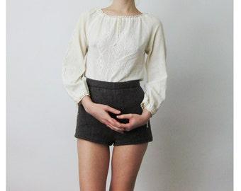 70s Cotton Peasant Top XS