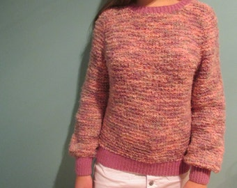 1970's Handmade New Zealand woollen sweater, chunky knit, vintage and handmade.