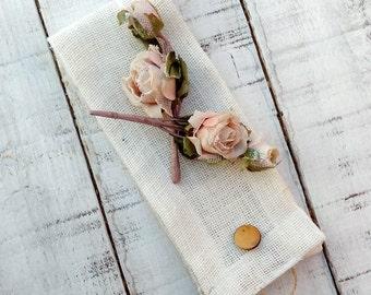 Ivory Burlap Tie Backs - Curtain Tie Backs - Drape Tie Backs - Rustic Home Decor - Hessian Tie Backs - Curtain holders - Set of 2