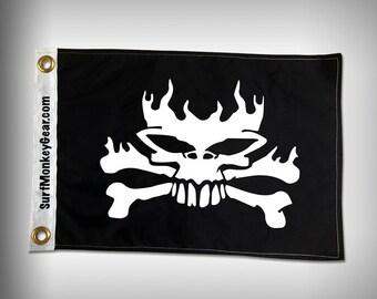 Bad Ass Skull and Bones Flag
