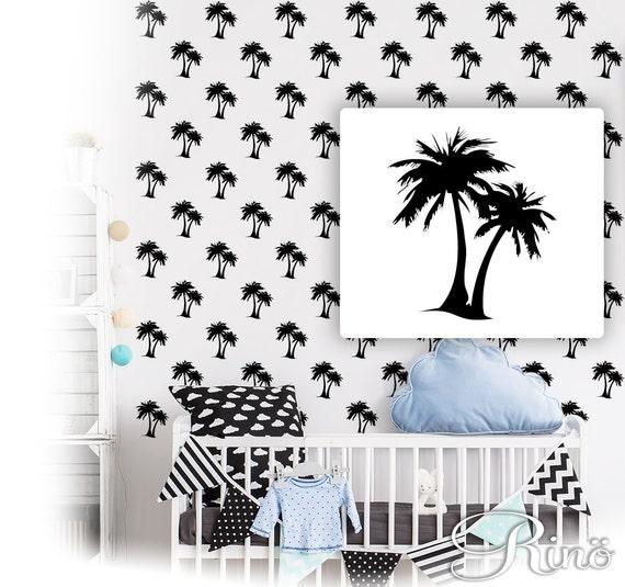 Palm Tree Decals Pattern Wall Art Palm Tree Vinyl Stickers