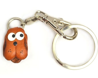 Dog Leather Animal Figuine/Charm Chinese Zodiac Series/Custom/Keychain/Key fob/Keyring *VANCA* Made in Japan #26303 Free Shippin