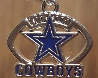 Stemless Wine Charm - Football/Dallas Cowboys