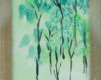 "Small watercolor ""Small spring forest"""
