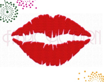 KISSING LIPS Machine Embroidery Design, female lips collection, womens lips, kiss, 10 sizes, #424