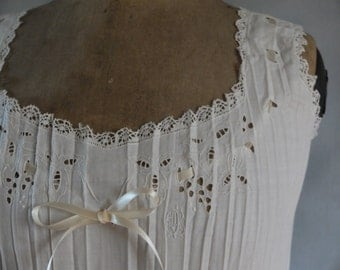 Exquisite French 1910s 1920s fortuny pleated chemise, nightgown, slip, lingerie, wedding