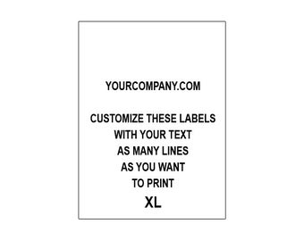 100 CUSTOM CARE LABELS (printed with your text)