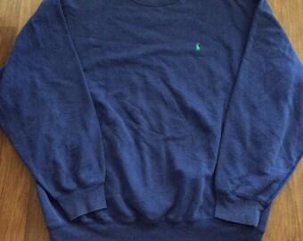 Vintage Polo RL small pony blue crewneck sweatshirt