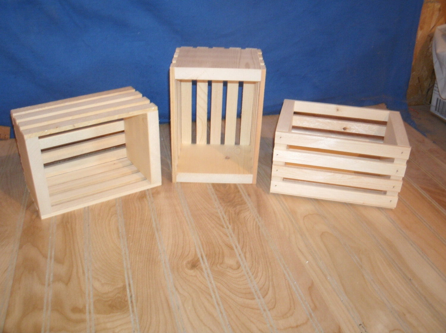 10 small wood crates unfinished wood crates wooden crate for Timber crates