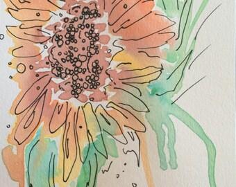 Watercolor Flower Paintings- Home Decor: Flower Paintings, Sunflower, Hydrangea, Iris, etc...