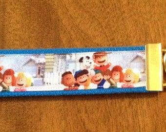 Charlie Brown Key Chain Key Fob Wristlet