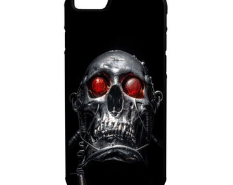 Cyborg Zombie Skull iPhone Galaxy Note LG HTC Hybrid Rubber Protective Case