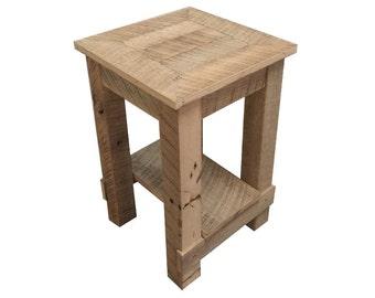 2 Barn Wood End Tables