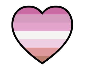 Lesbian Pride Heart Sticker