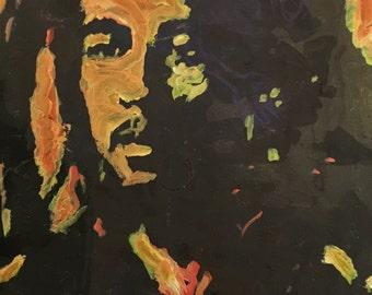 Bob Marley Art by Matt Pecson Pop Art Painting on Canvas Wall Art Boyfriend Gift Husband Gift for Him MADE TO ORDER