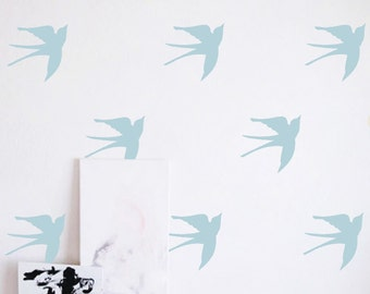 """Wall Stickers - 5""""  Birds - Set of 8"""