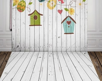 White Wooden planks Backdrop,Wooden floor Photography vinyl background photo prop XT-3588