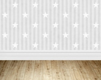 Grey wallpaper Photography backdrop,newborn photo patriotic stars background ,Party stage Vinyl backdrop D-419