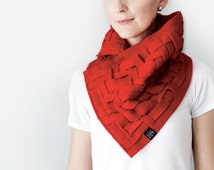 Cowl Scarf Oversize Scarf Circle Scarf Fleece Cowl Unique Handmade Scarf Oversized Weave Handwoven Scarf by Grey Matter