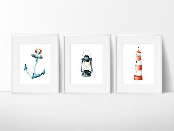 Nautical Decor Anchor Decor Bathroom Decor By SimplyLoveCreations
