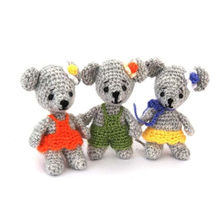 Amigurumi Supplies : Crochet mouse soft doll mini mice toy amigurumi