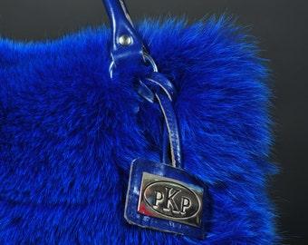 Real Fox Fur Bag (Blue or Beige)