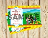 Mickey Mouse Clubhouse Birthday Party Invitation, Minnie, Daisy, Donald, Goofy, Pluto, Digital Invite, Printable Invite, 24 Hour Turn Around