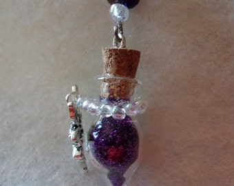 Purple Fairy Tear Drop Necklace