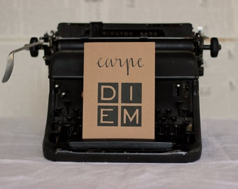 Carpe Diem Graduation Card : Brown Kraft Paper
