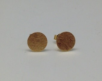 Ear studs 'Miami Ice' gold plated silver