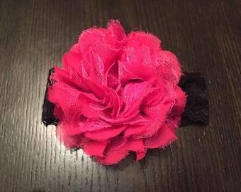 Pink & Black Baby Headband