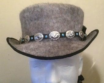 Natural Gray Riverboat Gamblers Hat