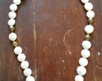 Freshwater coin pearl necklace