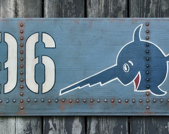 NEW!!** Hand crafted wooden sign 'U96 Das Boot' Film inspired