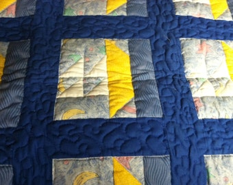 Blue and Yellow Baby Quilt