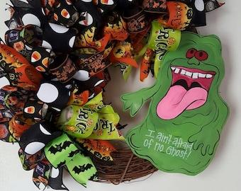 Halloween Wreath,  Ghost Buster Wreath,  Funky Bow Wreath, Halloween Decor, Door Decor, Halloween Ghost Buster Wreath, Ghost Buster Decor