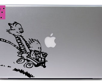 Calvin and Hobbes downhill ride vinyl decal