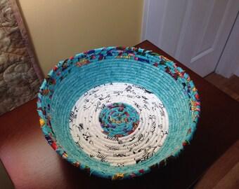 Fabric-wrapped Clothesline Basket