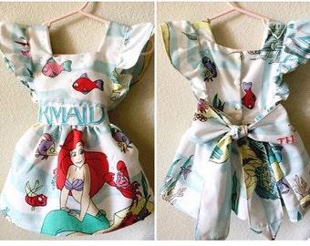 Disney's The Little Mermaid First Birthday Dress Ariel Pinafore