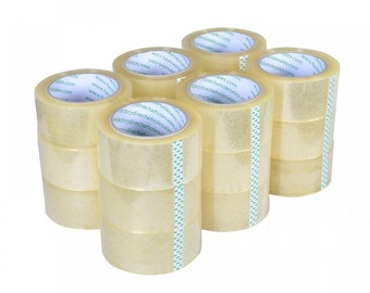 """6 - 2"""" x 110y  Shipping Tape 2 Mil Clear Acrylic"""