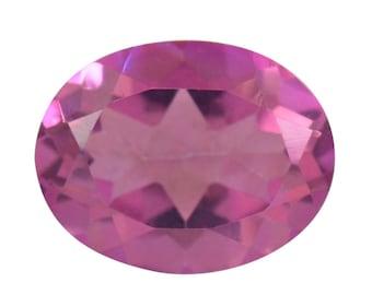 Flamingo Pink Quartz Loose Gemstone Oval Cut 1A Quality 9x7mm 1.45 cts.