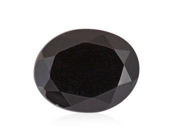 Thai Black Spinel Oval Cut Loose Gemstone 1A Quality 10x8mm TGW 2.35 cts.