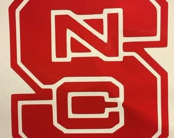 North Carolina State Wolfpack Vinyl Sticker