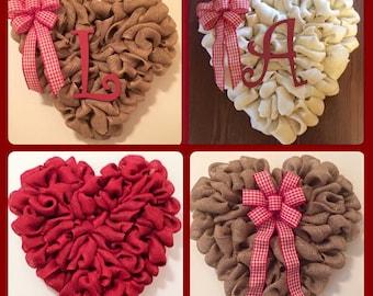"""20"""" Valentine's Burlap Wreath"""