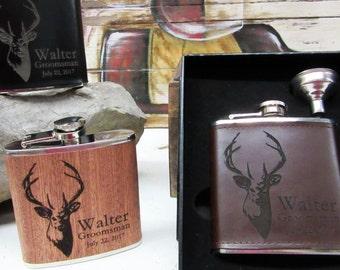Set of 3, Groomsmen Gift Flask Set, Wedding Party Gift Set, Best Groomsmen Gift Ideas, Groomsman Gift Flask, Groomsmen Flask, Wedding Gifts