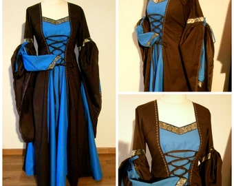 Medieval Dress, Renaissance Gown, Renfaire LARP, Fantasy Dress Handfasting Size M/L
