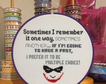 Joker Quote Cross Stitch