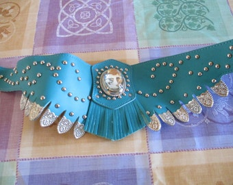 Turquoise Costume Belt 1970's