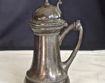 Syrup Pitcher Rogers Smith & Co 1873 Antique Silver Plate Meriden CT 03159