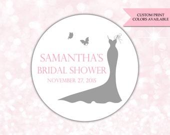 Bridal shower stickers - Bridal shower labels - Bridal shower favor stickers (RW027)